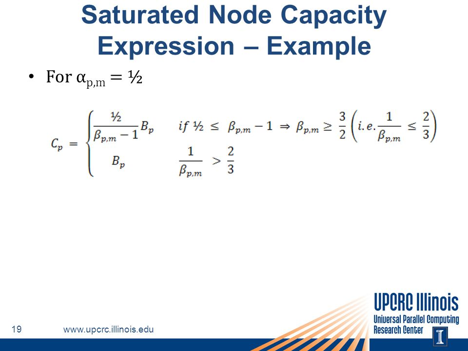 Saturated Node Capacity Expression – Example