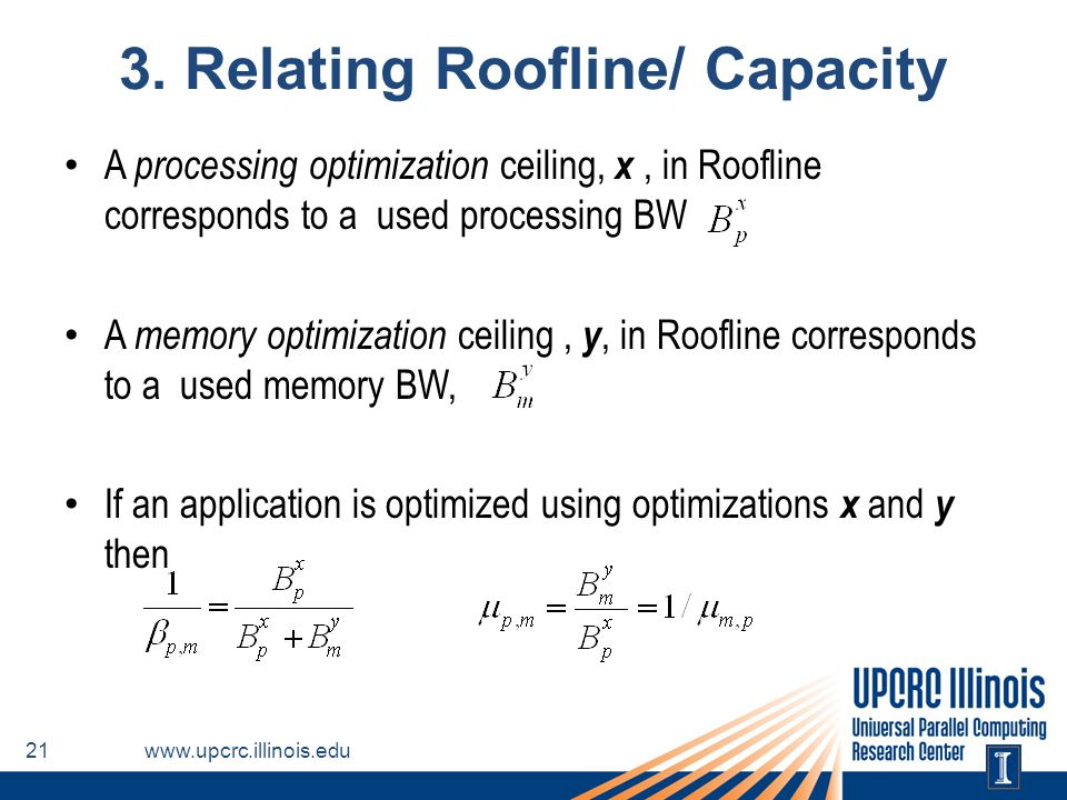 3. Relating Roofline/ Capacity