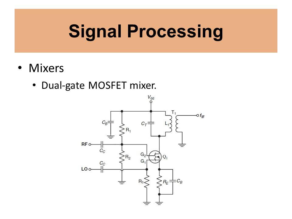 Signal Processing Mixers Dual-gate MOSFET mixer.