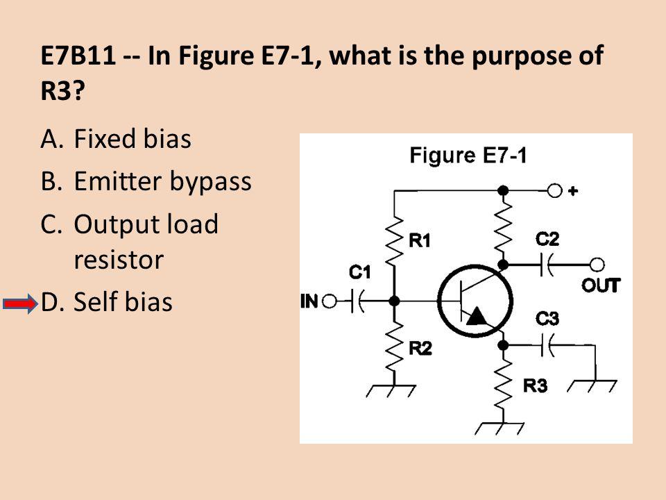 E7B11 -- In Figure E7-1, what is the purpose of R3