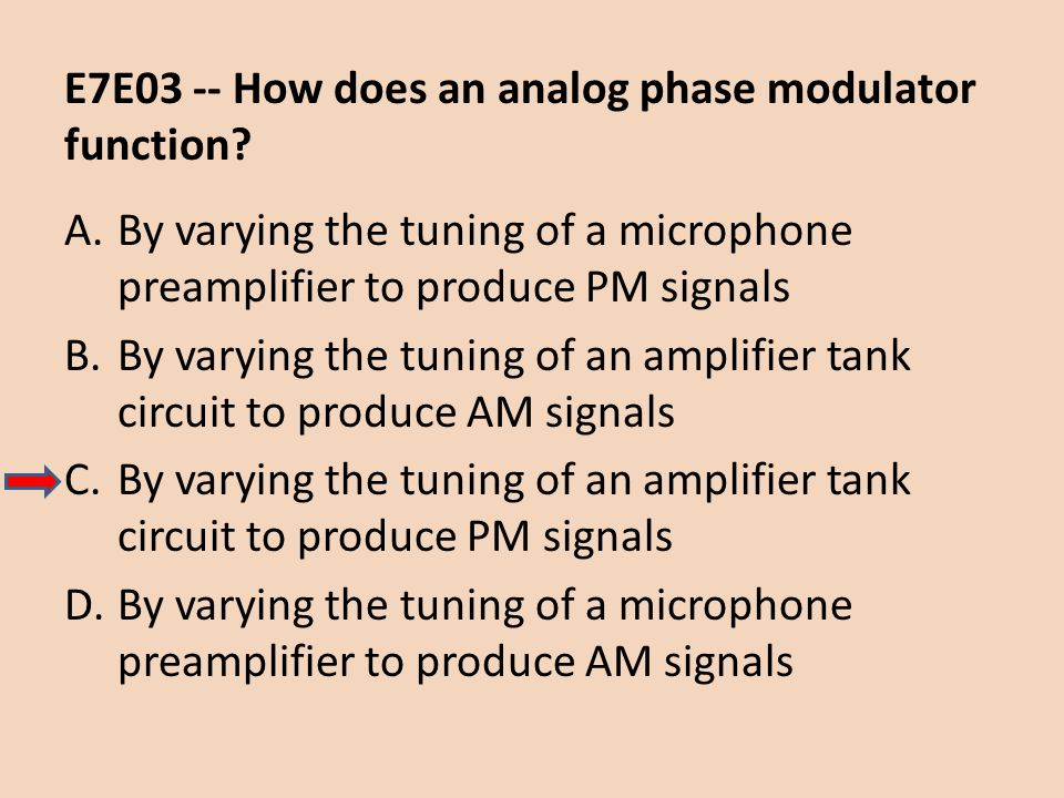 E7E03 -- How does an analog phase modulator function