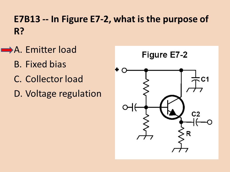 E7B13 -- In Figure E7-2, what is the purpose of R