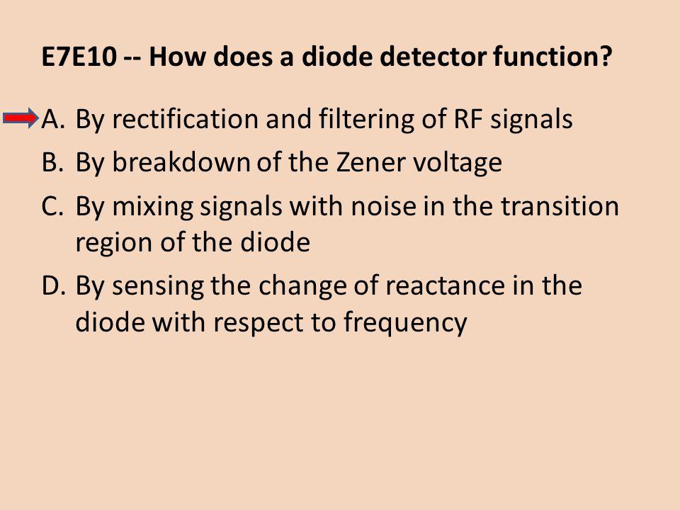 E7E10 -- How does a diode detector function