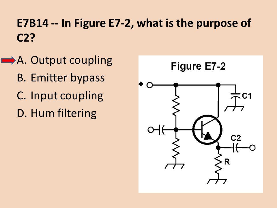 E7B14 -- In Figure E7-2, what is the purpose of C2