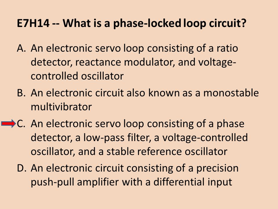 E7H14 -- What is a phase-locked loop circuit