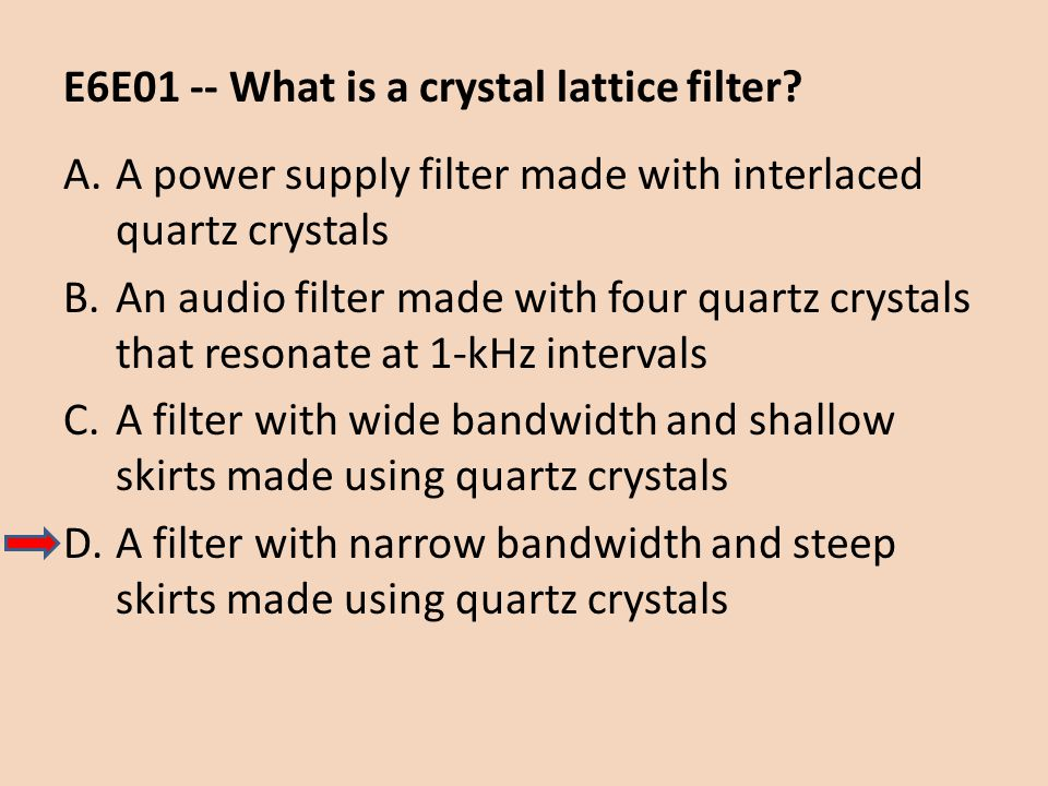 E6E01 -- What is a crystal lattice filter