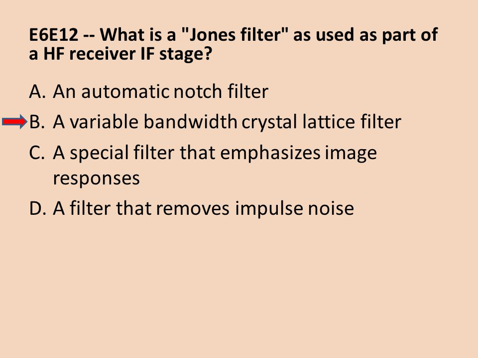 An automatic notch filter A variable bandwidth crystal lattice filter