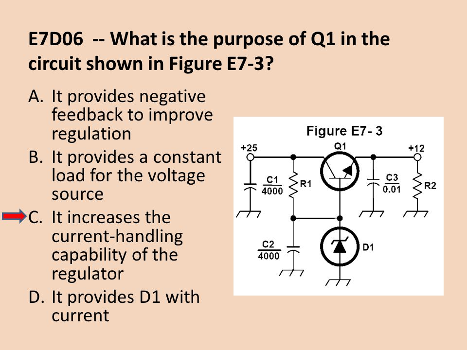 E7D06 -- What is the purpose of Q1 in the circuit shown in Figure E7-3