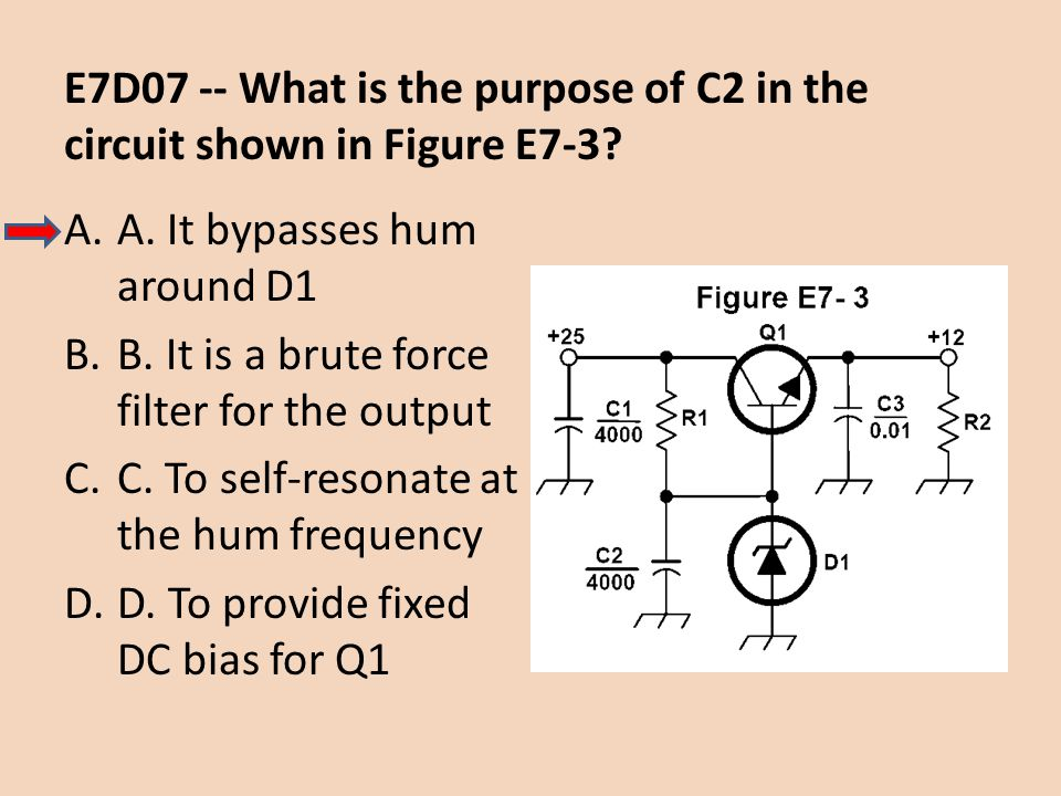 E7D07 -- What is the purpose of C2 in the circuit shown in Figure E7-3