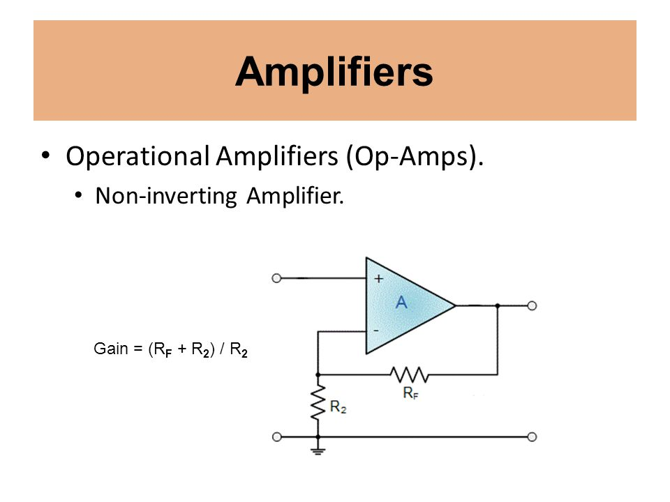 Amplifiers Operational Amplifiers (Op-Amps). Non-inverting Amplifier.
