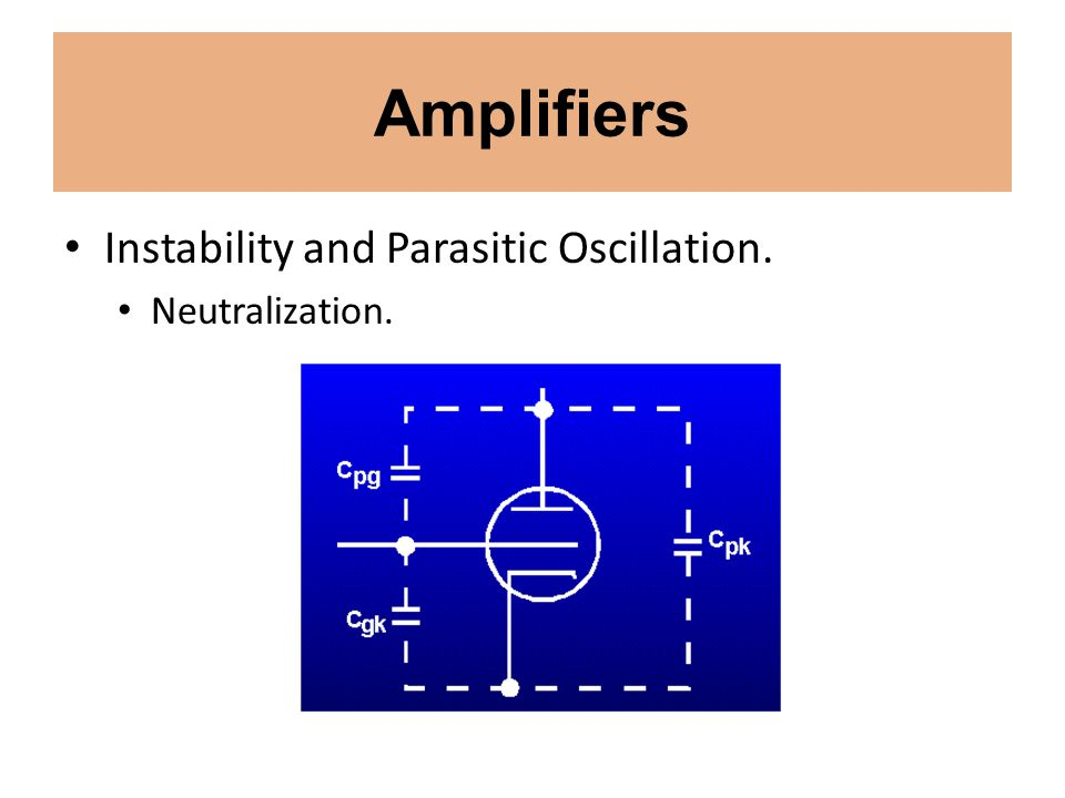 Amplifiers Instability and Parasitic Oscillation. Neutralization.