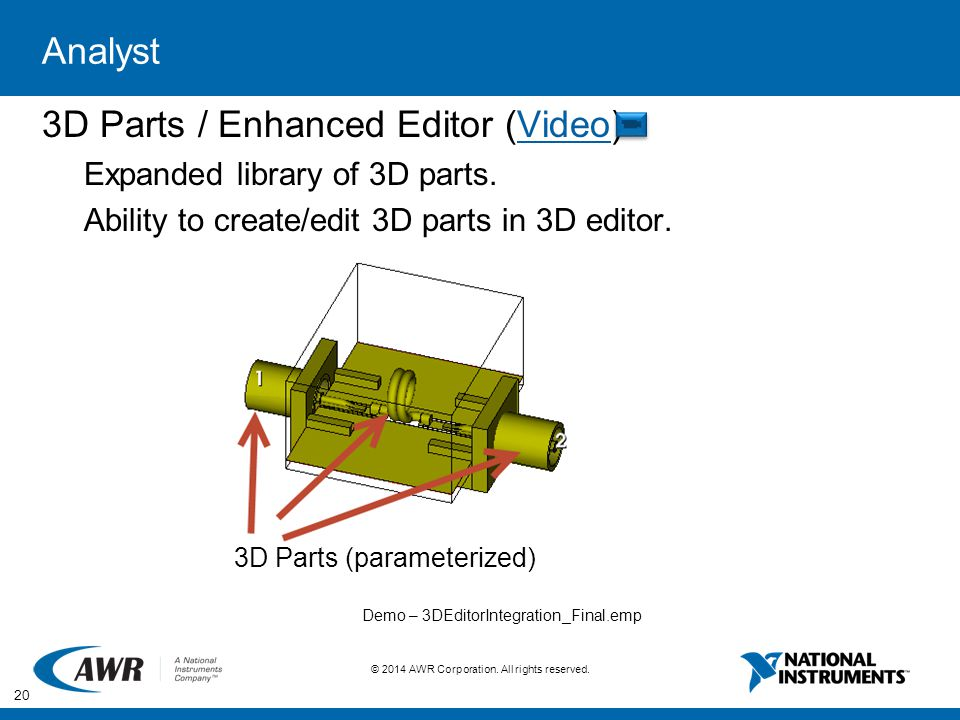 3D Parts / Enhanced Editor (Video)