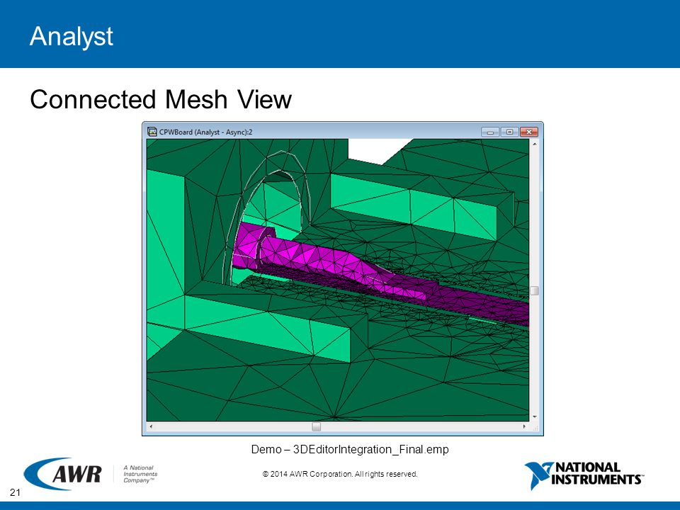 Analyst Connected Mesh View Demo – 3DEditorIntegration_Final.emp