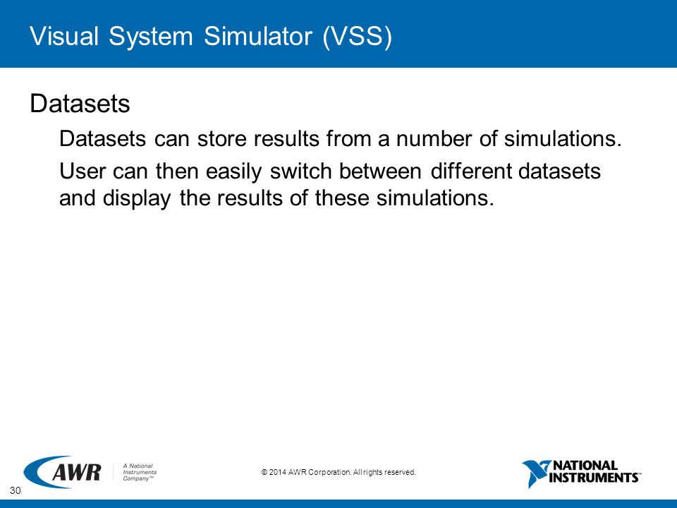 Visual System Simulator (VSS)