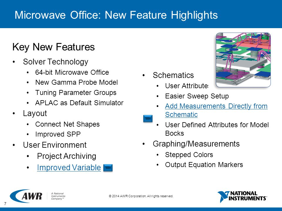 Microwave Office: New Feature Highlights