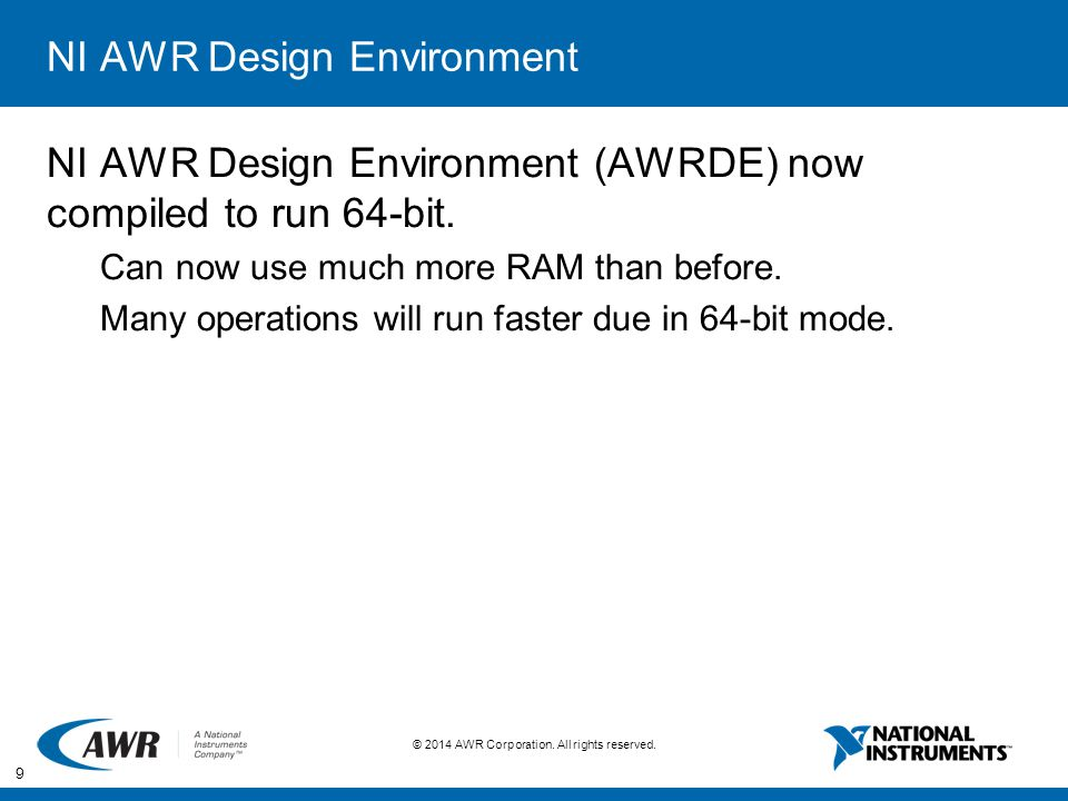 NI AWR Design Environment