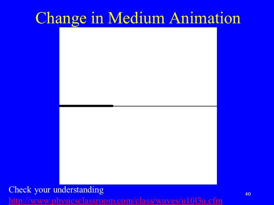 Change in Medium Animation