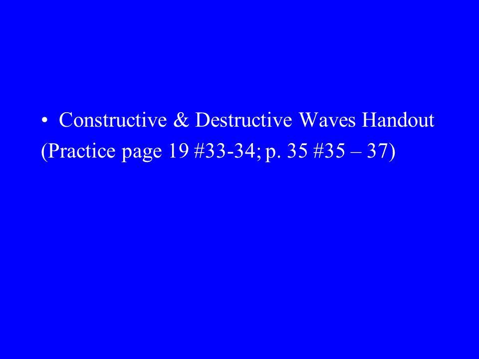 Constructive & Destructive Waves Handout