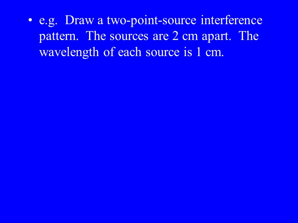 e. g. Draw a two-point-source interference pattern