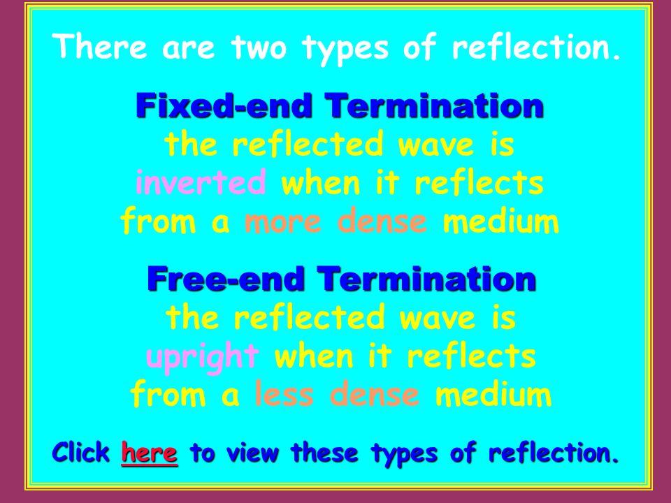 There are two types of reflection.