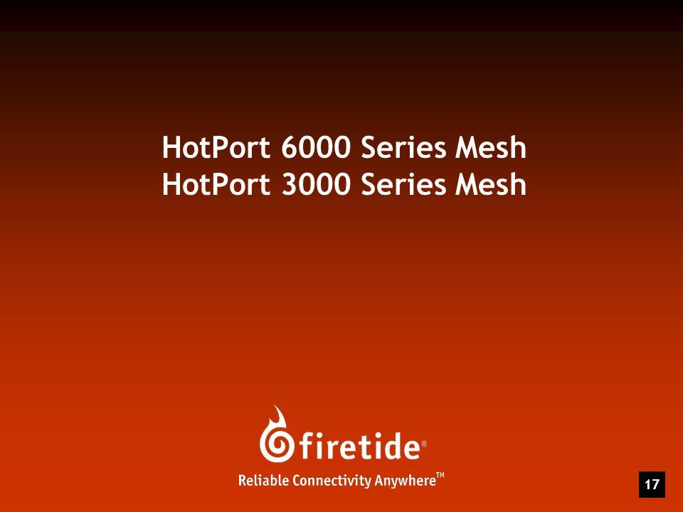 HotPort 6000 Series Mesh HotPort 3000 Series Mesh