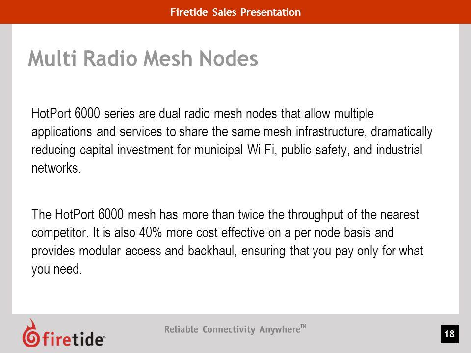Multi Radio Mesh Nodes