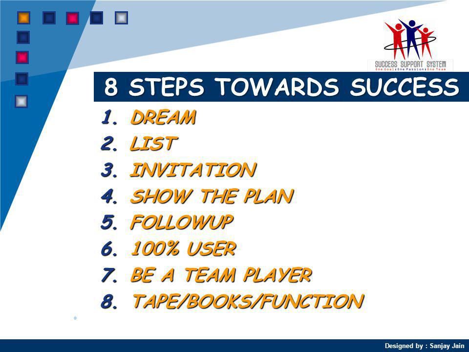 8 STEPS TOWARDS SUCCESS DREAM LIST INVITATION SHOW THE PLAN FOLLOWUP