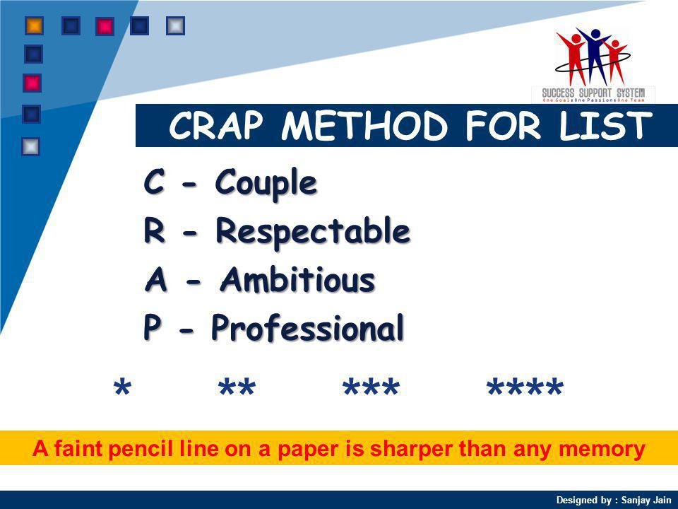 A faint pencil line on a paper is sharper than any memory