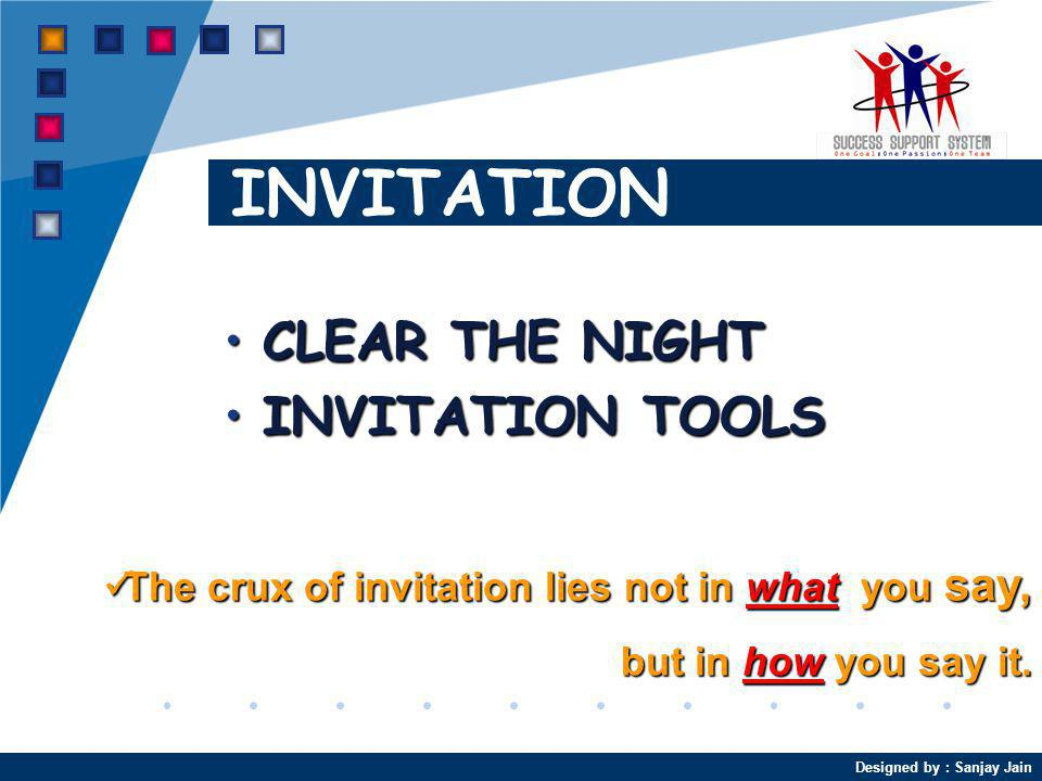 INVITATION CLEAR THE NIGHT INVITATION TOOLS