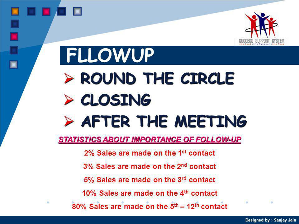 FLLOWUP ROUND THE CIRCLE CLOSING AFTER THE MEETING