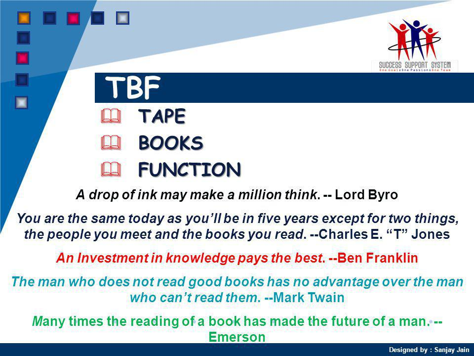 TBF TAPE BOOKS FUNCTION