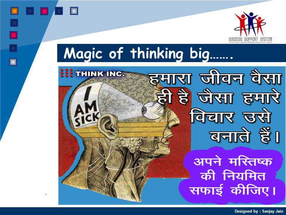 Magic of thinking big…….