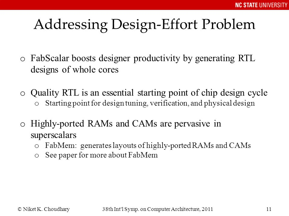Addressing Design-Effort Problem