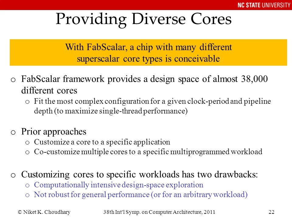 Providing Diverse Cores