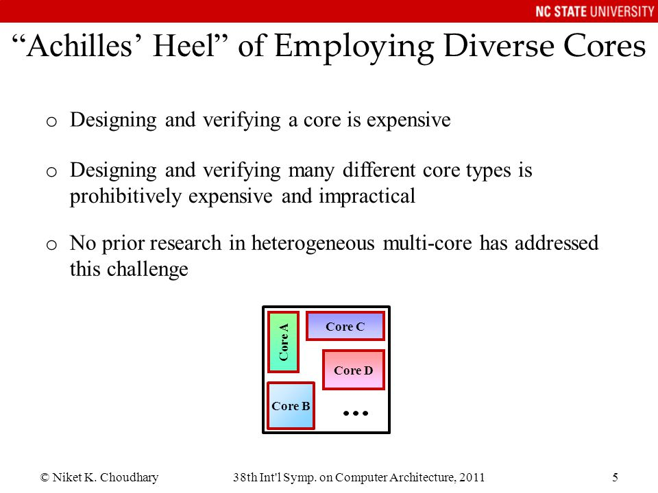 Achilles' Heel of Employing Diverse Cores