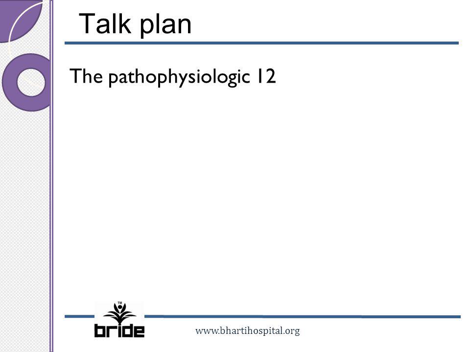 Talk plan The pathophysiologic 12