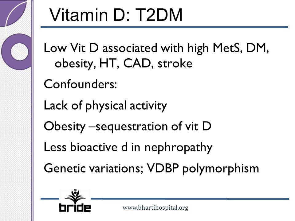 Vitamin D: T2DM