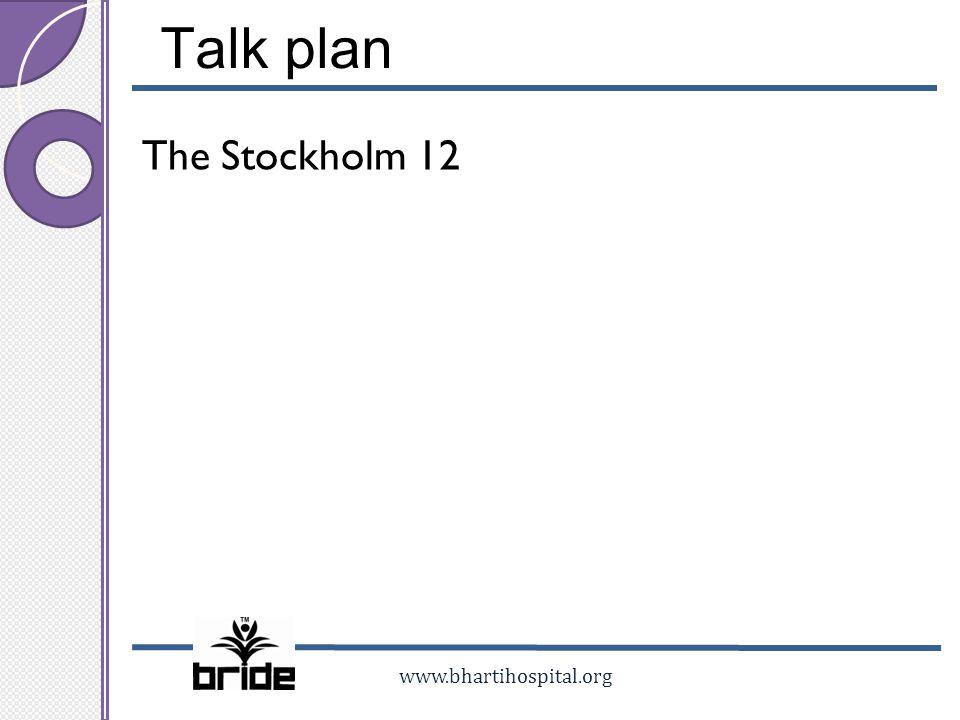 Talk plan The Stockholm 12