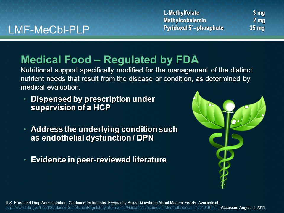 Medical Food – Regulated by FDA