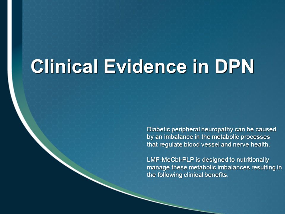 Clinical Evidence in DPN
