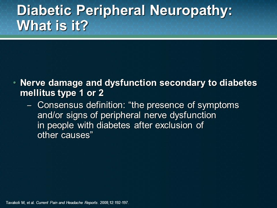 Diabetic Peripheral Neuropathy: What is it