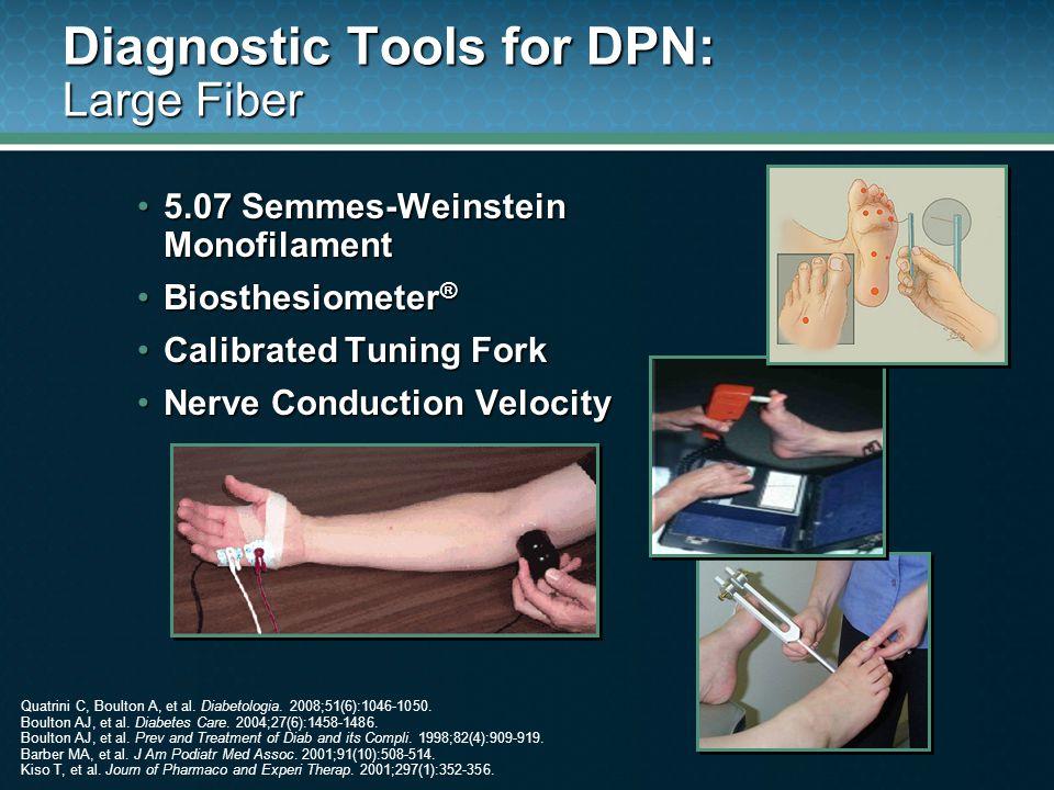 Diagnostic Tools for DPN: Large Fiber