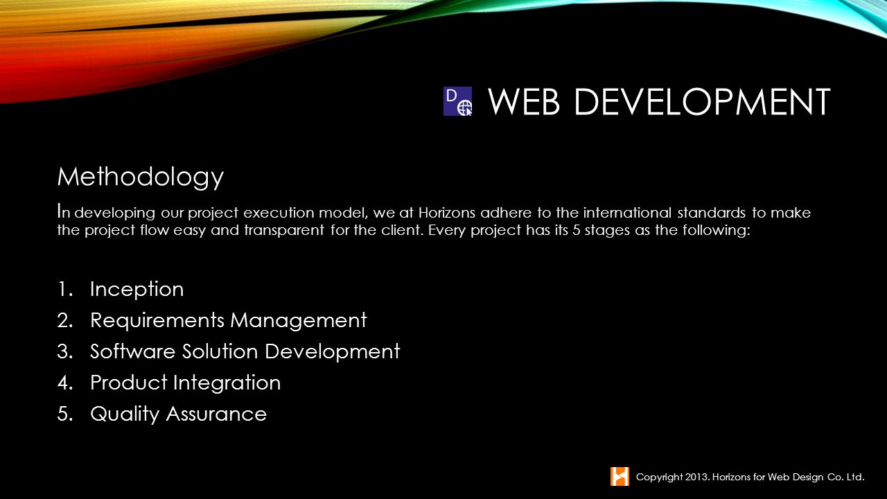 Web Development Methodology
