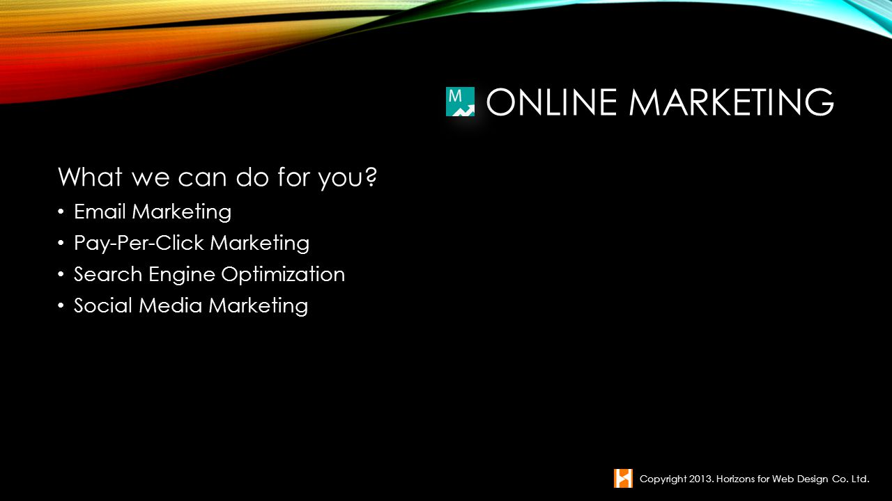 Online Marketing What we can do for you  Marketing