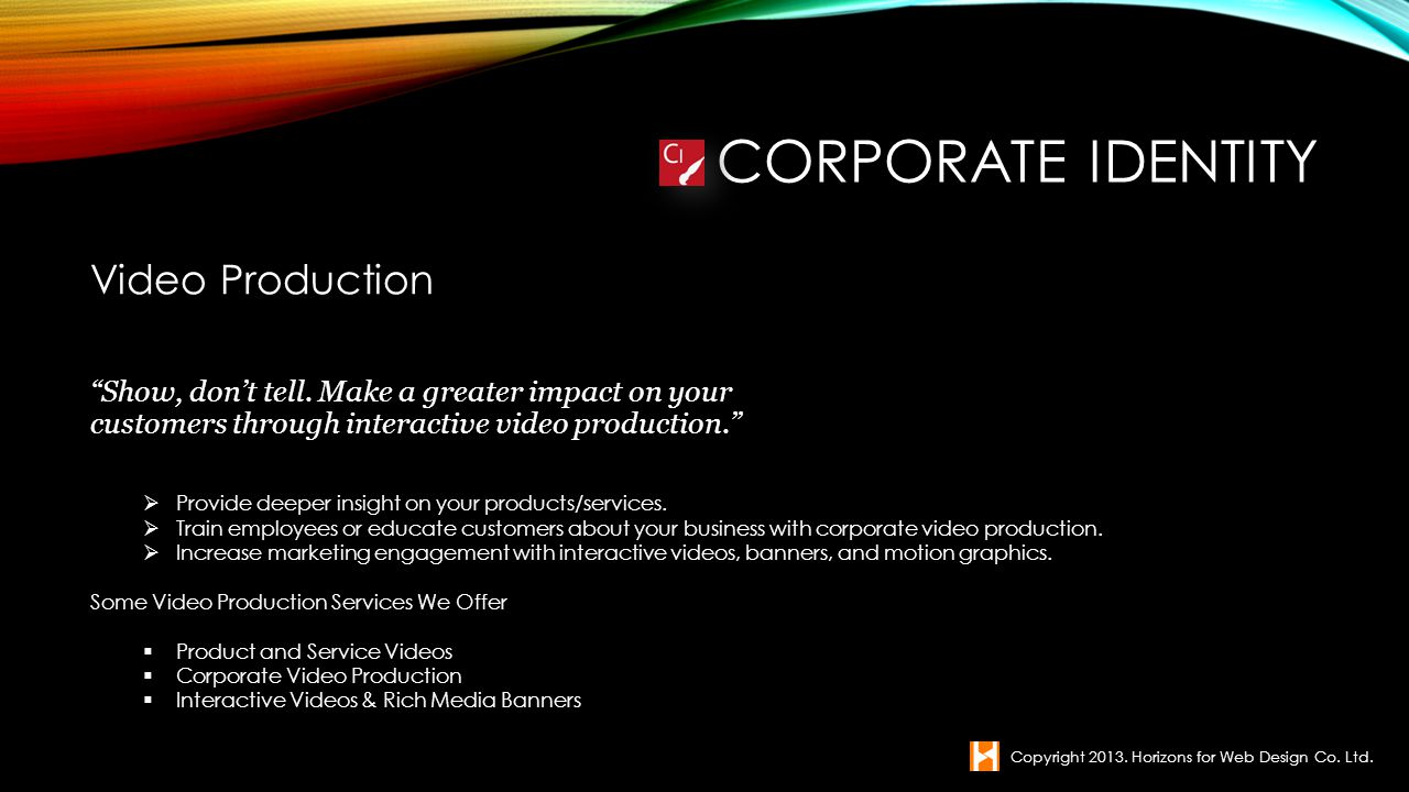 Corporate Identity Video Production