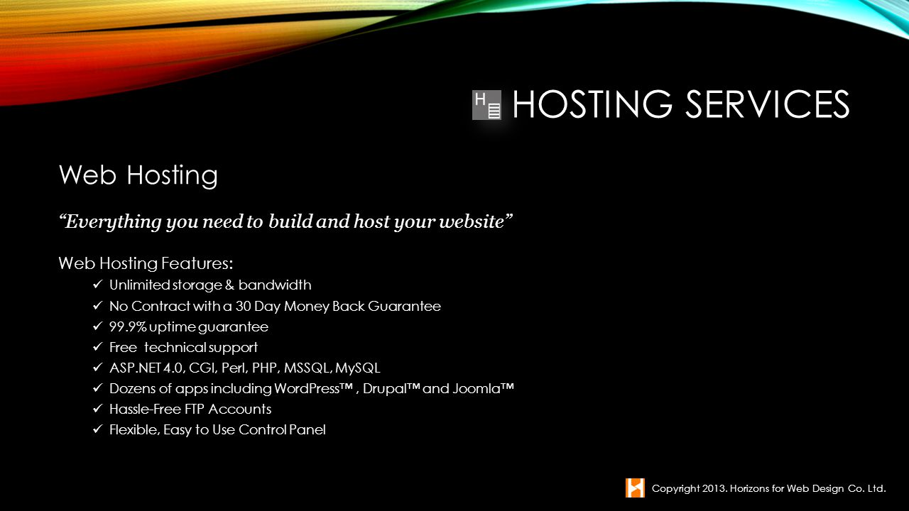 Hosting Services Web Hosting