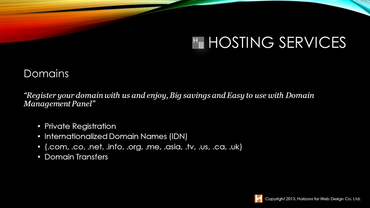 Hosting Services Domains