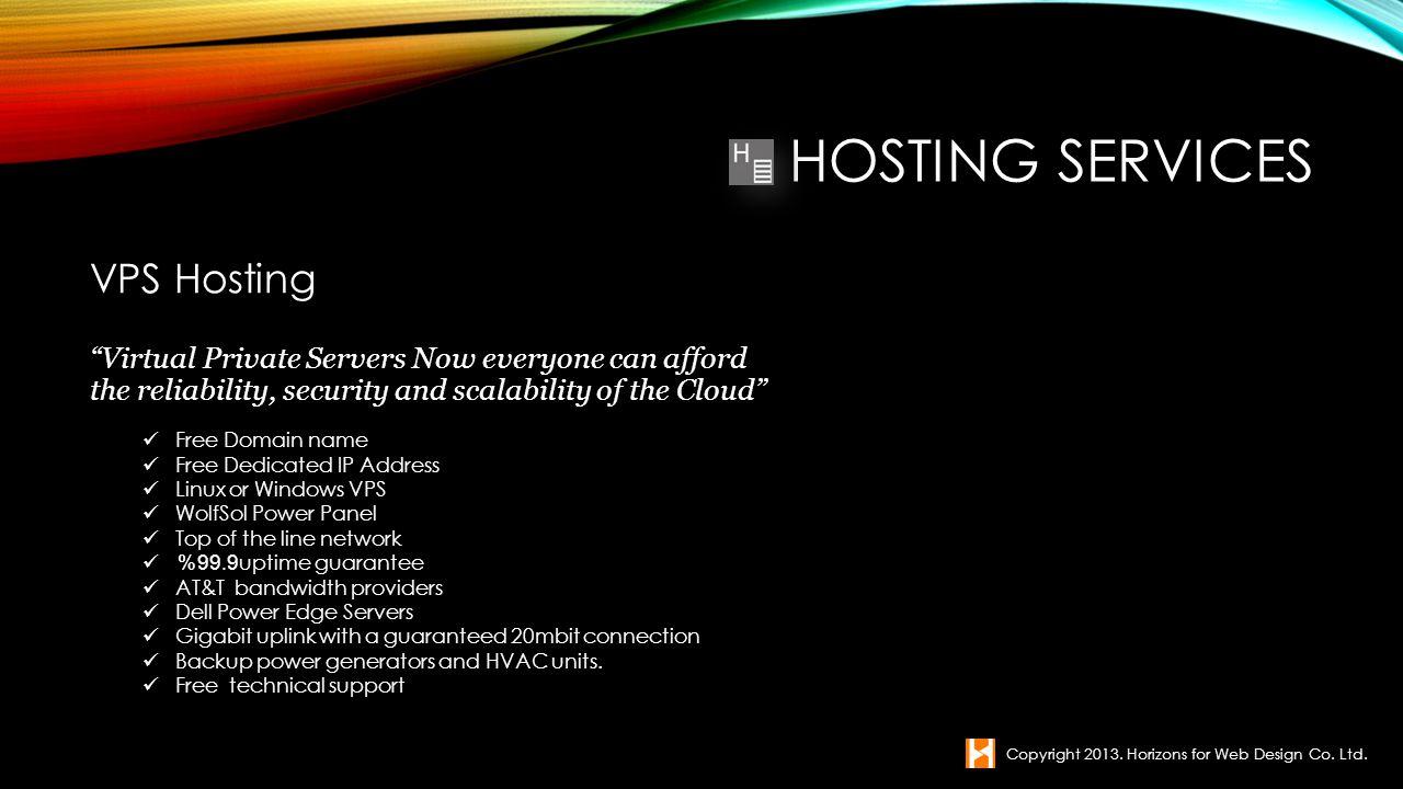 Hosting Services VPS Hosting