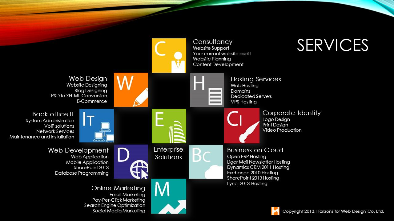 Services Consultancy Web Design Hosting Services Corporate Identity
