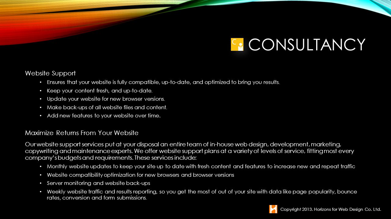Consultancy Website Support Maximize Returns From Your Website